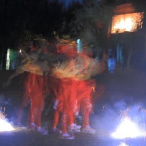 笹踊りと手筒花火