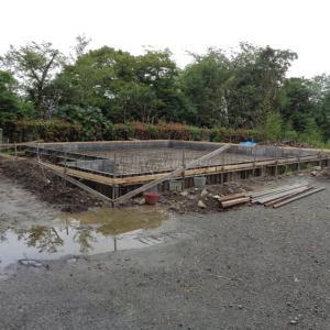 相模原の家、基礎配筋工事