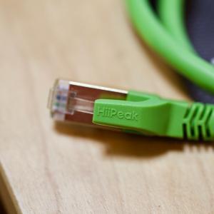 ネットスピード改善 LANケーブルをCAT8に交換