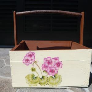 手作り木箱のトールペイント