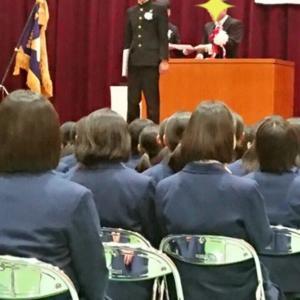 中学校の卒業式☆長男