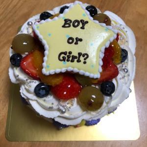 ジェンダーリビールケーキで発表