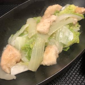 つくば鷄と白菜の炒め物