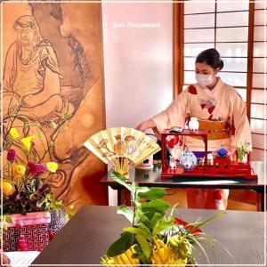京都での展示会お煎茶席 @ 金戒光明寺勢至院さまにて