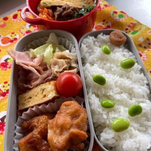 唐揚げ弁当と〜韓国風海苔巻き、キンパを作ってみた!