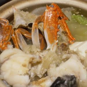 冬の萩の味覚をてんこ盛り、鮟鱇と渡り蟹の寄せ鍋