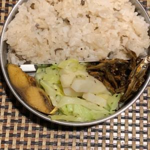 今週最後のお弁当は舞茸ご飯