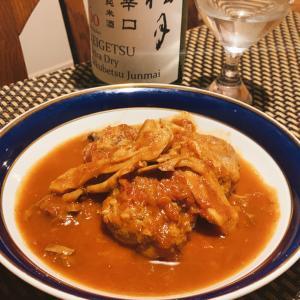 高知梼原鹿肉自家製ミンチで作る、ミートボールの赤ワイン煮込みと桂月のマリアージュ