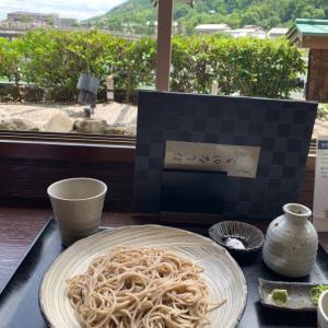 女蕎麦屋酩酊記、桂川を臨んで蕎麦でたぐる「蕎麦の実 よしむら 嵐山店」