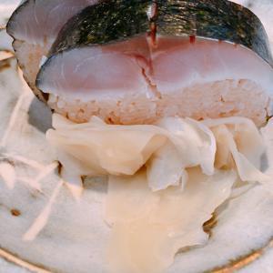 絶品鯖寿司がお昼もいただける、「福田」さんのランチセット