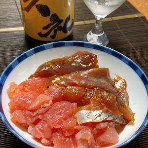土佐久礼丼、剣先イカとオクラの大葉和え、剣先イカとゴーヤのゆずバター炒め、ちちこニラトマトの中華
