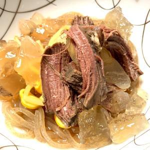 ほろり鹿肉、ぷるぷる鹿肉スープジュレの韓国冷麺