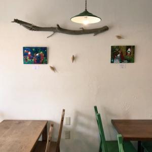 ミソラ食堂さんに原画を2点 飾らせていただきました♪