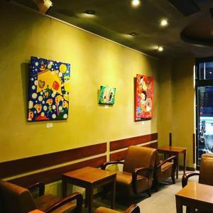 タリーズコーヒー新宿2丁目店で開催中の個展は3月31日迄となります♪