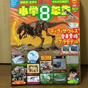小学8年生 付録 ティラノサウルス 豪華!バンダイ製のプラモデル!