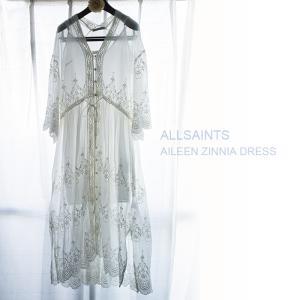 「ALLSAINTS(オールセインツ)」の2018年新作ワンピース☆花びらのような美しい刺繍のAileen Zinnia Dress