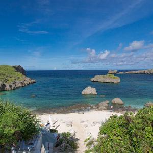 コロナ禍でも宮古島 下地島の中の島ビーチ