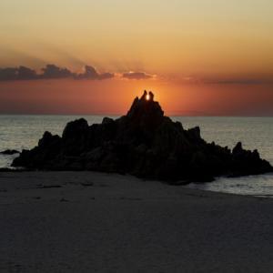 水晶浜海水浴場 夕景