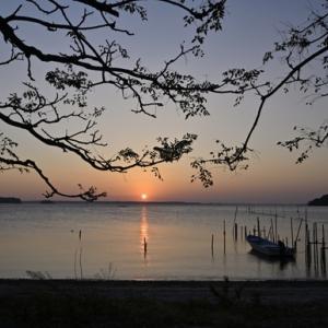 浜名湖 海岸の朝
