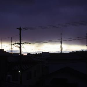 昨日は時雨模様できょうは少し晴れ