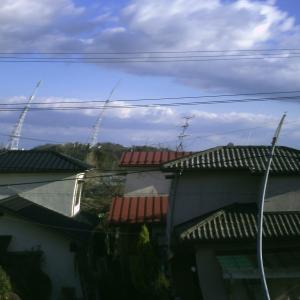夕べの仙台は強風w