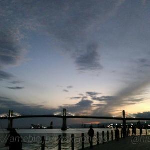 小名浜港の夕暮れ