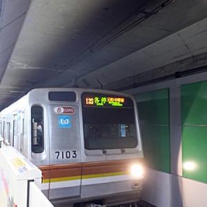 【日吉ではすぐに電車到着で】乗り込んで座ったらLTE開始です
