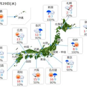 【今日は天気も回復】暖かくなるみたいですね。
