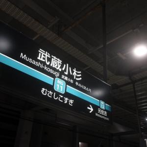 【今日は武蔵小杉で乗り換えて】みました。