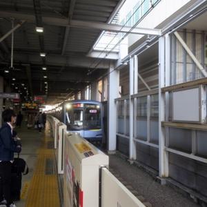 【乗り換えた東横線では】すぐに座って・・・・WiMAX2+開始です