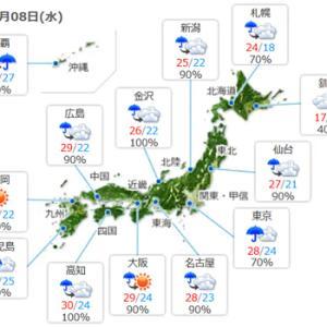 【今日も梅雨らしい天気】みたいですね。うーーーむ