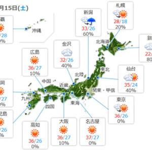 【今日もイイ天気で】暑い一日になりそうですね。うーーーむ