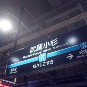 【今日も武蔵小杉で乗り換えて】みました。