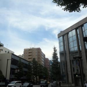 【少し雲の切れ間も見えだした】横浜の街並み・・・・