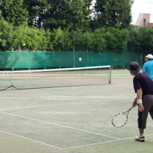雨とコロナの合間のテニス