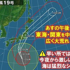 台風により臨時休業