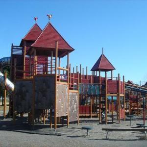 垂直の滑り台が怖い スウェーデン製の大型複合遊具が大人気 安久路公園 (静岡県磐田市安久路2-10-4)