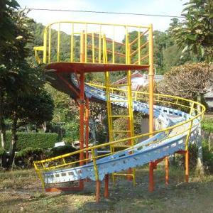 らせん式のローラースライダーがある 松葉町公園 (静岡県島田市松葉町9724-1)