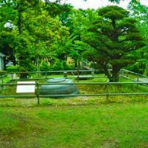 江戸時代の雨乞い伝説 かみなりさまのおへそ 安養寺運動公園 おへそ山 (静岡県掛川市淡陽116)