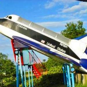 人気のスペースシャトル型滑り台 日本平運動公園 こども広場 (静岡県静岡市清水区(旧清水市)村松字大谷3880-1)