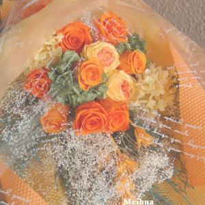 傘寿のお祝いにプリザーブドフラワーの花束