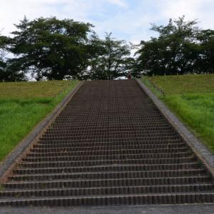 荒川土手の階段