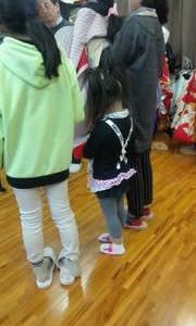 追分人形練習日
