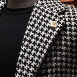 LARDINI Houndstooth Knit Jacket