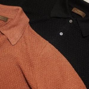 Vandori Linen Silk Knit Polo Shirt