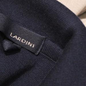 LARDINI Milano-rib Knit Jacket Black&Navy