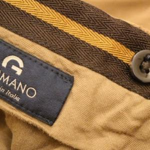 GERMANO Slim Fit Cotton Trousers