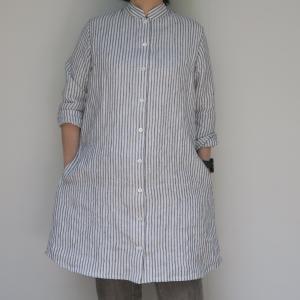 リネンのロングシャツ