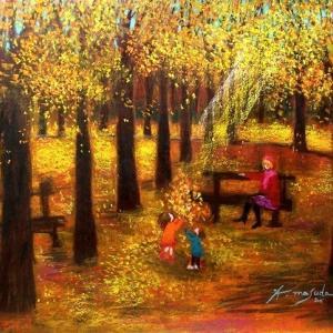 秋のルクサンブール公園