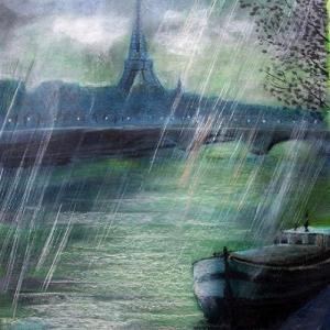 雨のセーヌ河